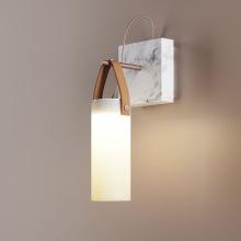 北欧创意大理石客厅壁灯后现代简约样板房书房卧室床头设计师壁灯