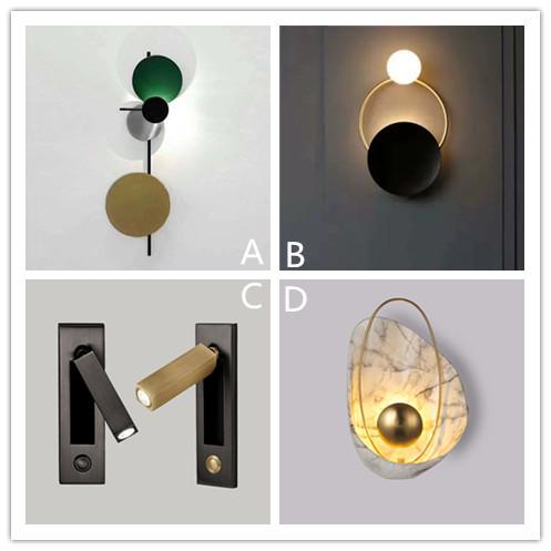 北欧创意led壁灯后现代酒店会所服装店别墅客厅卧室床头餐厅壁灯