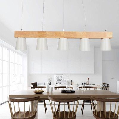 北欧灯简约咖啡厅吧台个性创意餐厅吊灯实木饭厅餐桌三头餐厅吊灯