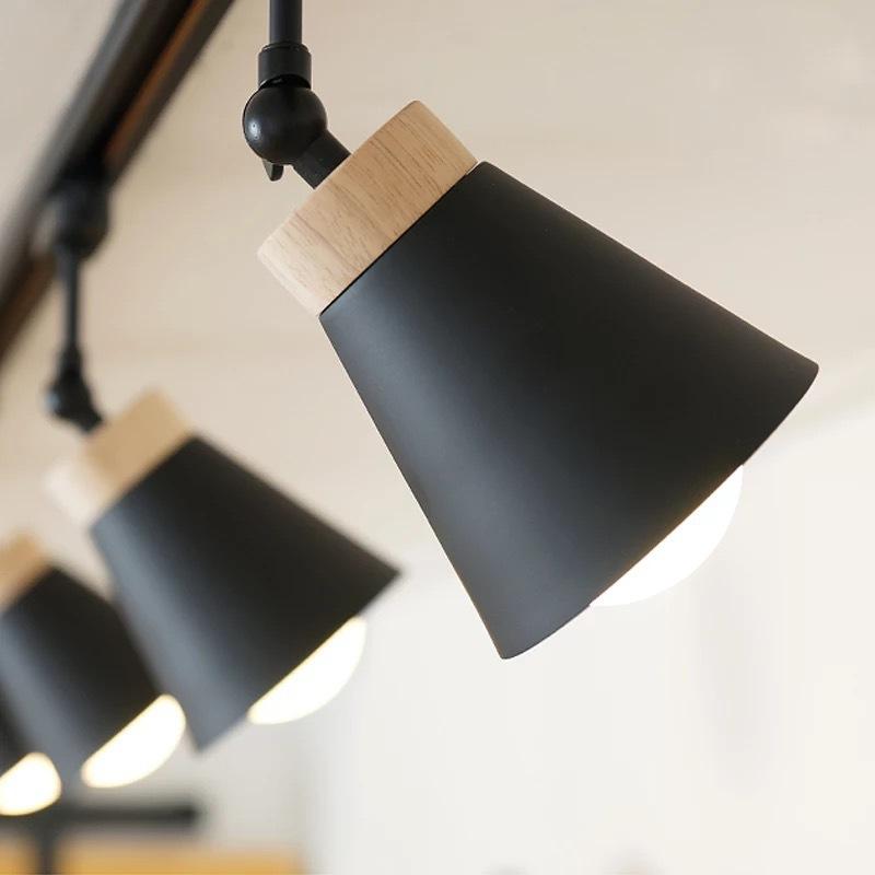 北欧风格简约家用大气餐厅创意打光店铺奶茶点店客厅轨道LED灯罩