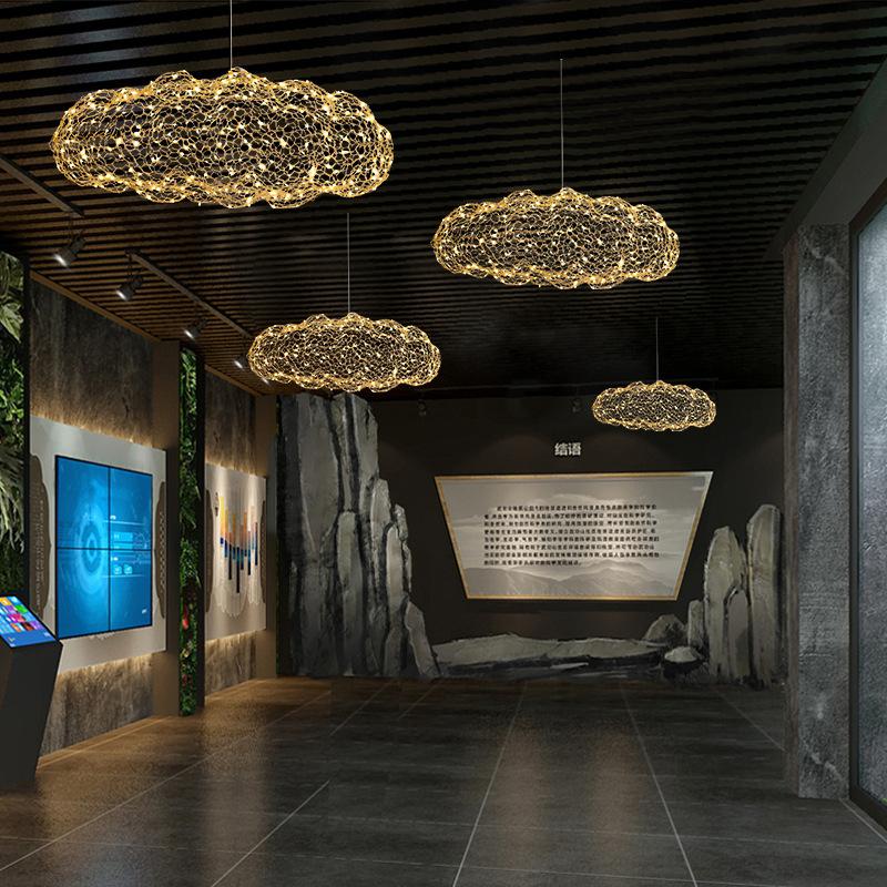 北欧后现代创意个性云朵满天星吊灯咖啡厅吧台餐厅萤火虫工程吊灯