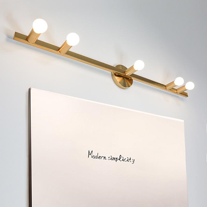 后现代金色镜前壁灯创意北欧卫生间衣帽间客厅卧室化妆镜前壁灯