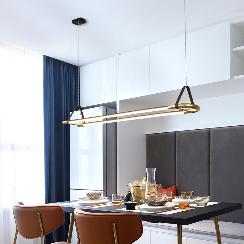 北欧简约餐厅吊灯时尚个性吧台灯创意橱窗咖啡厅茶餐厅LED长条灯