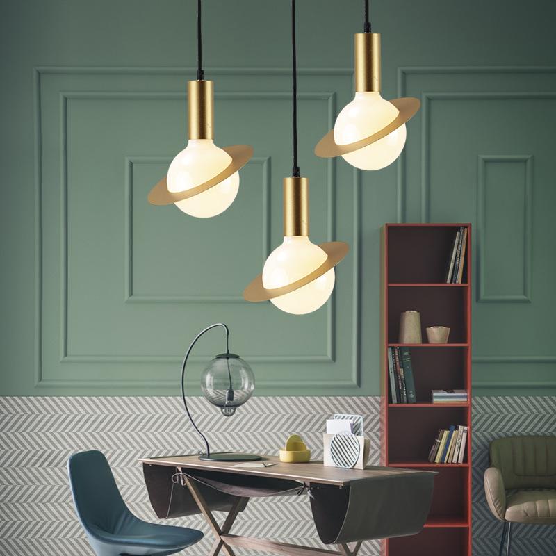 北欧后现代行星LED吊灯餐厅卧室床头展厅吧台橱窗装饰LED飞碟吊灯