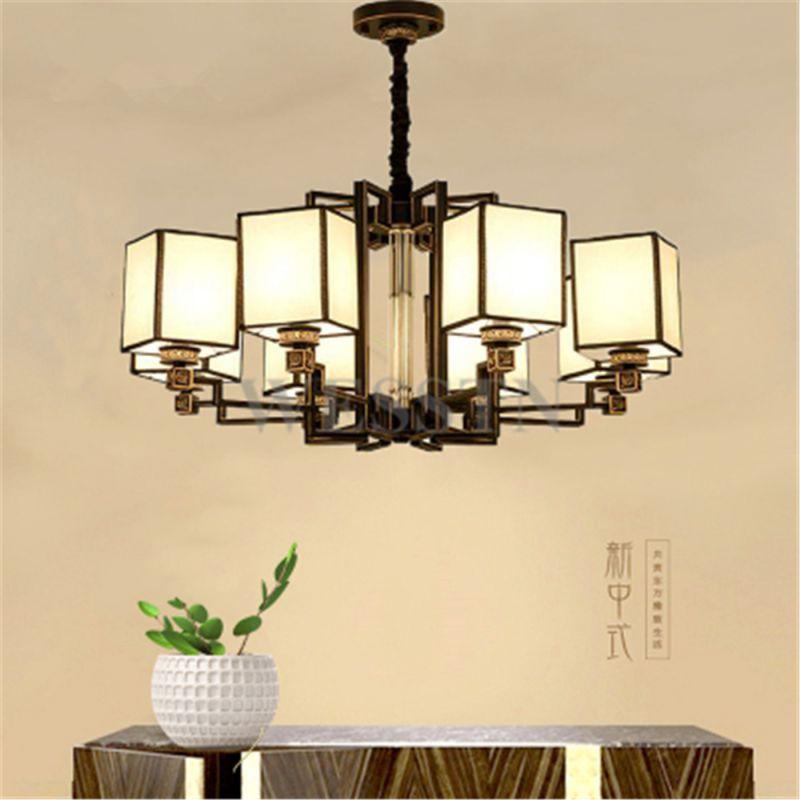 现代新中式吊灯中国风客厅灯书房卧室仿古家用餐厅茶楼吊灯具套餐