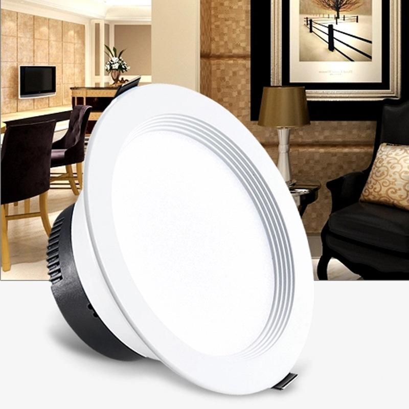 led面板灯圆形超薄面板灯 LED圆形筒灯面板灯3W 5W 7W 9W 射灯
