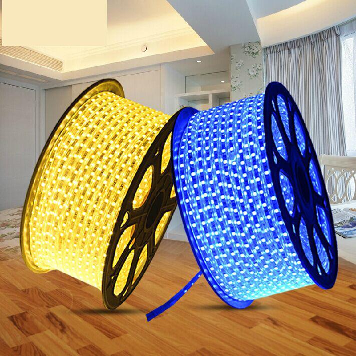 集美御吸顶灯led5050灯带贴片高压软光条 三晶高亮铜线防水