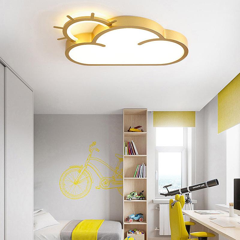 简约现代led吸顶灯儿童房间灯创意北欧个性云朵男女孩幼儿卧室灯