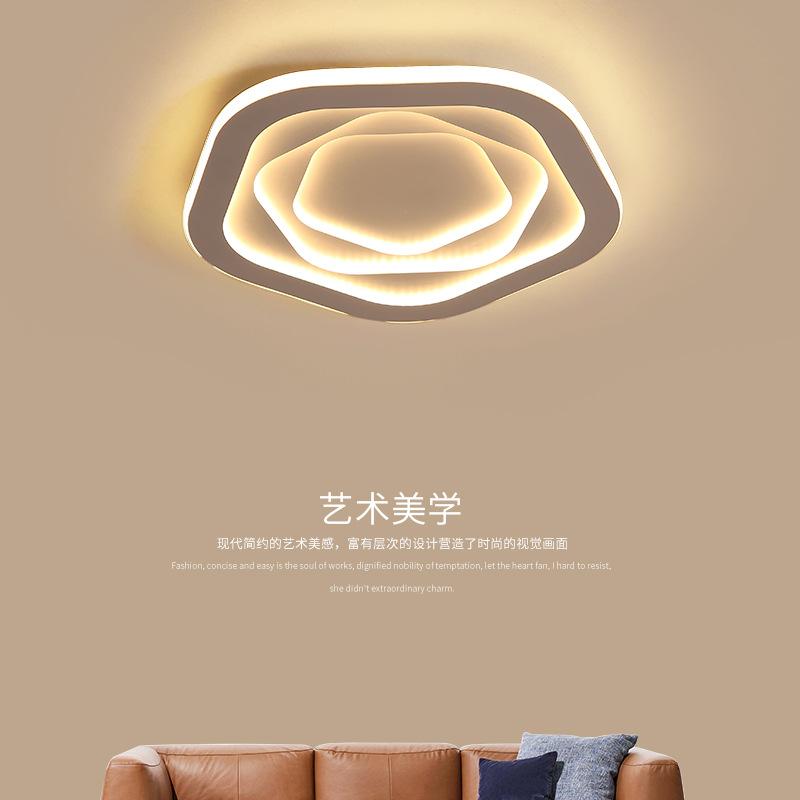 北欧LED吸顶灯简约现代大气家用创意个性温馨卧室灯具房间灯饰