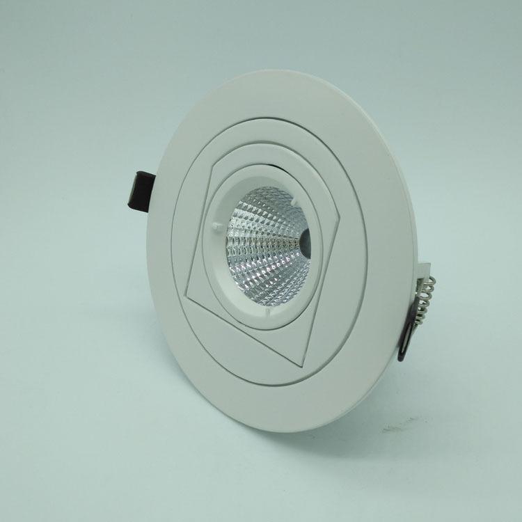 厂家直销外圆内方万向可调角度led象鼻灯12W外壳套件