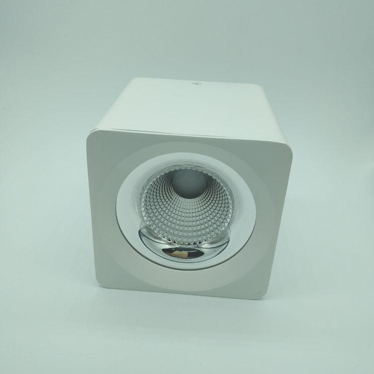 厂价直销COB压铸一体化方形明装筒灯外壳 室内免开孔可吊装