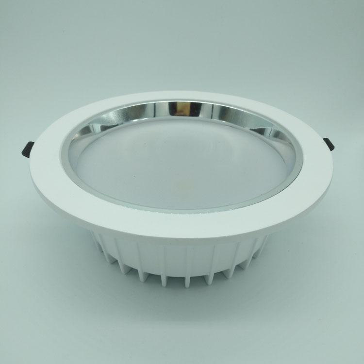 鱼尾款一体化防眩压铸筒灯外壳 10寸筒灯外壳 100W压铸筒灯配件