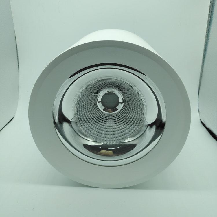 明装筒灯外壳 COB压铸明装圆形筒灯套件 可吊装 白色黑色可选