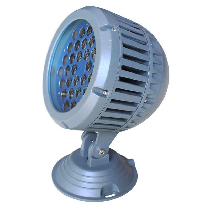 LED投光灯外壳射灯外壳18W24W36W插地灯草坪灯套件压铸圆形源厂