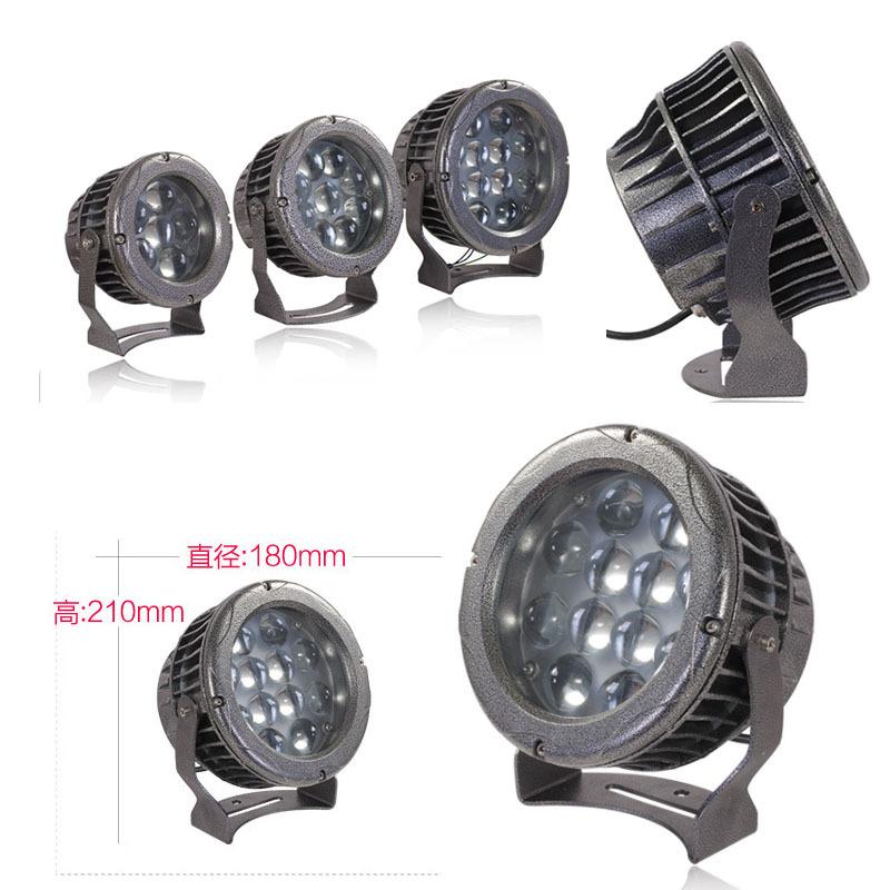 厚料LED束光灯外壳 led6W9W12W投光灯外壳聚光窄角度射灯外壳厂家