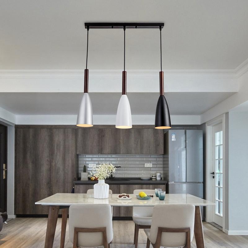 北欧灯具家用个性创意后现代轻奢简约卧室餐厅灯客厅黑白灰餐吊