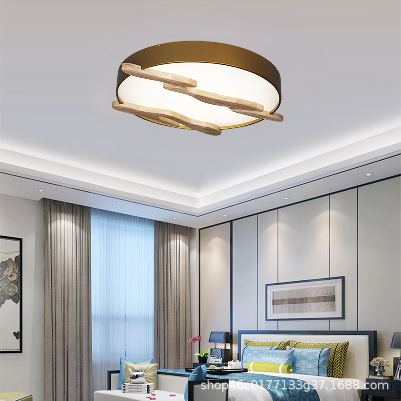 圆形中国风禅意新中式餐厅灯现代简约客厅书房房间吸顶灯