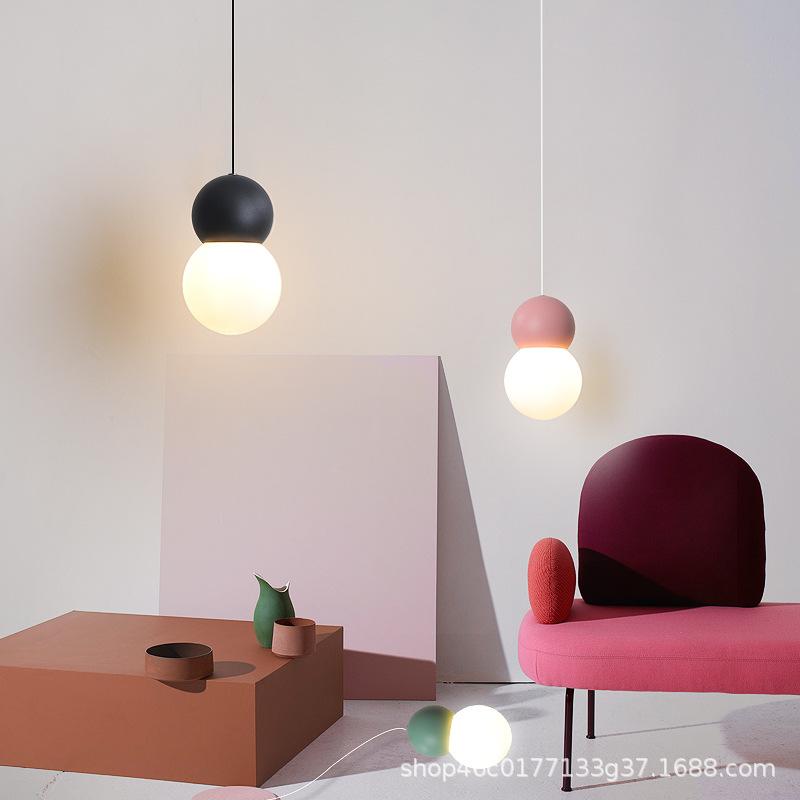 北欧个性简约现代创意亚克力圆球餐厅卧室婴儿室服装店床头吊灯