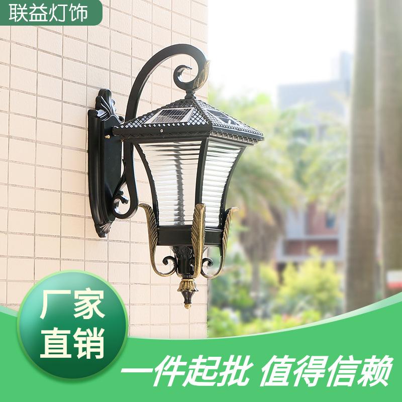 四面凤凰太阳能壁灯 led户外照明灯新中式小区花园庭院墙壁灯