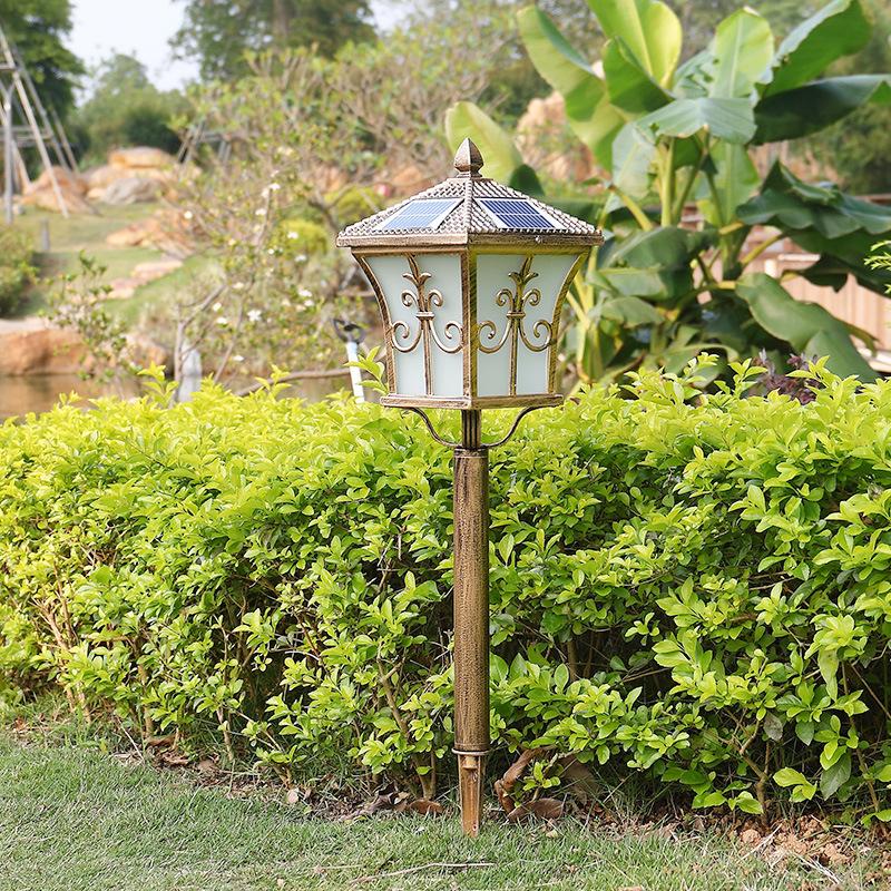 新款太阳能led草坪灯户外防水花园地插灯别墅庭院小区景观插地灯