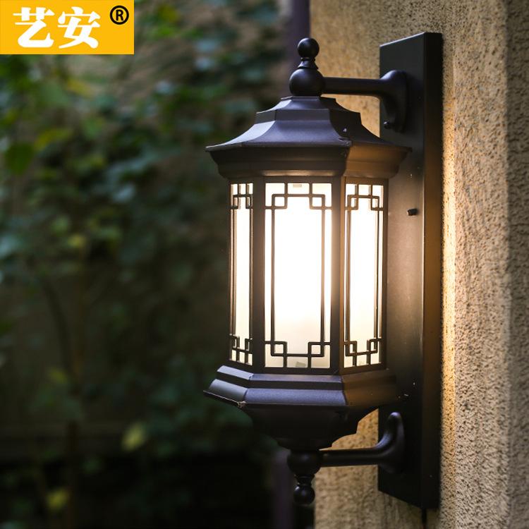 新款户外壁灯 走廊阳台led太阳能壁灯 室外防水简约美式围墙壁灯