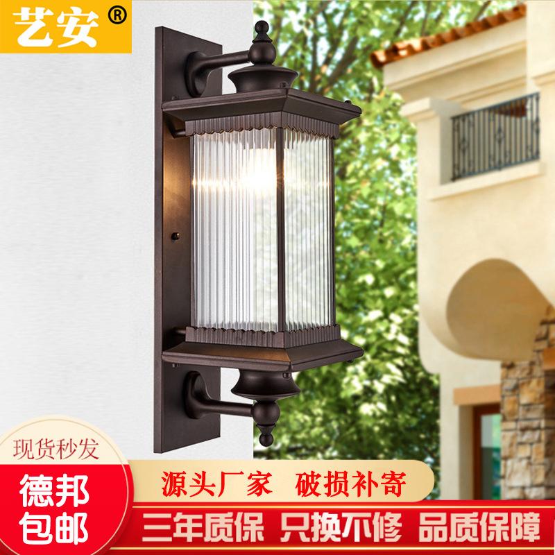 中式庭院led壁灯 户外防水别墅阳台花园室外露台大门前柱墙长挂灯
