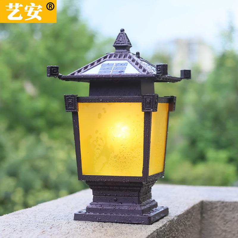 厂家直销太阳能围墙灯柱头墙头门柱庭院灯户外大门别墅花园灯防水