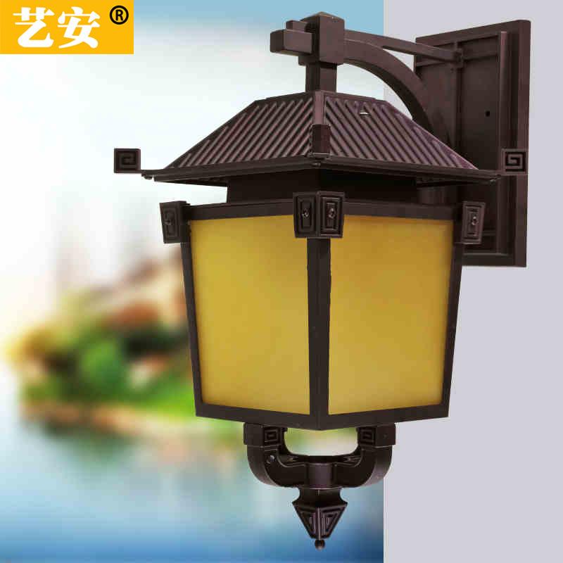 仿古壁灯 中式复古壁灯防水户外灯具led壁灯走廊阳台灯大门柱壁灯