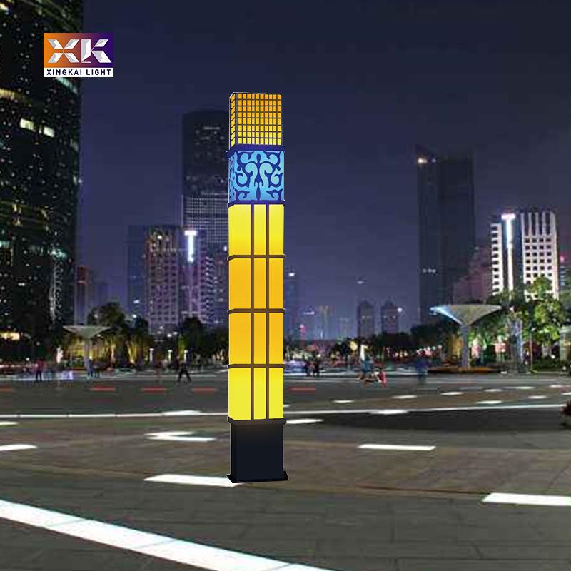 户外led方形中式景观灯 中山厂家定制广场中式景观灯 云石景观灯