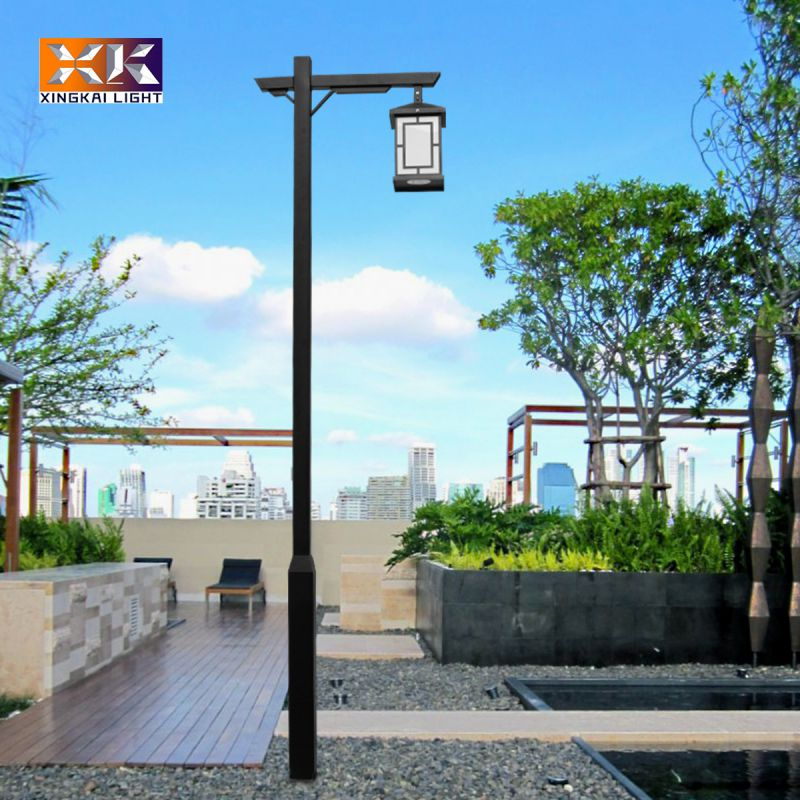 led户外庭院灯 兴凯照明定做中式仿古路灯庭院灯 3米方杆庭院灯