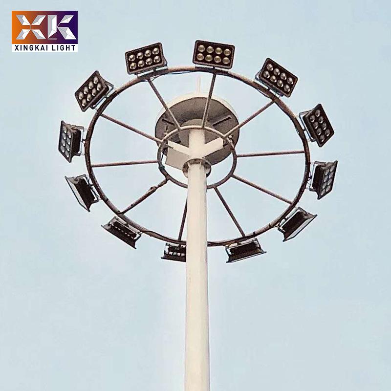 升降式高杆灯 厂家生产球场用高杆灯 兴凯定制广场用30米高杆灯