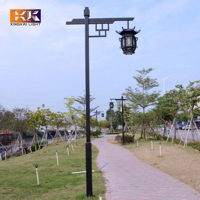 景区用3.5米高中式庭院灯定制  定做复古风格单头庭院灯  公园用