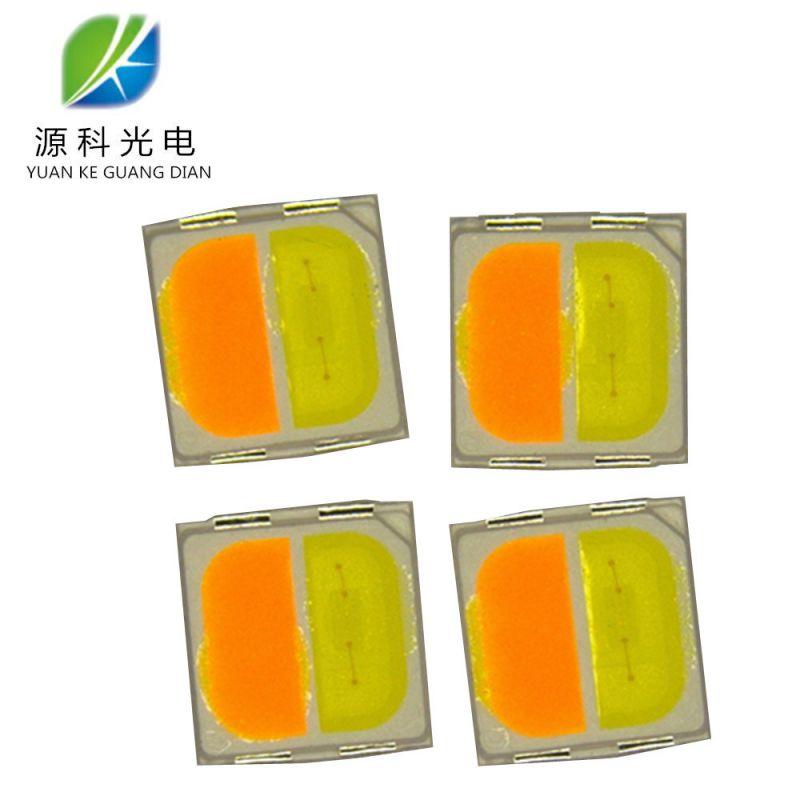 金线LED3030双色灯珠 正白+暖白 0.5W 1W 高亮6-65lm3030双杯灯珠