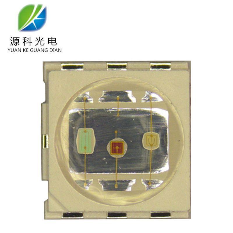 源头工厂供应 5050RGB 0.6W大功率 RGB七彩高亮 热电分离led光源