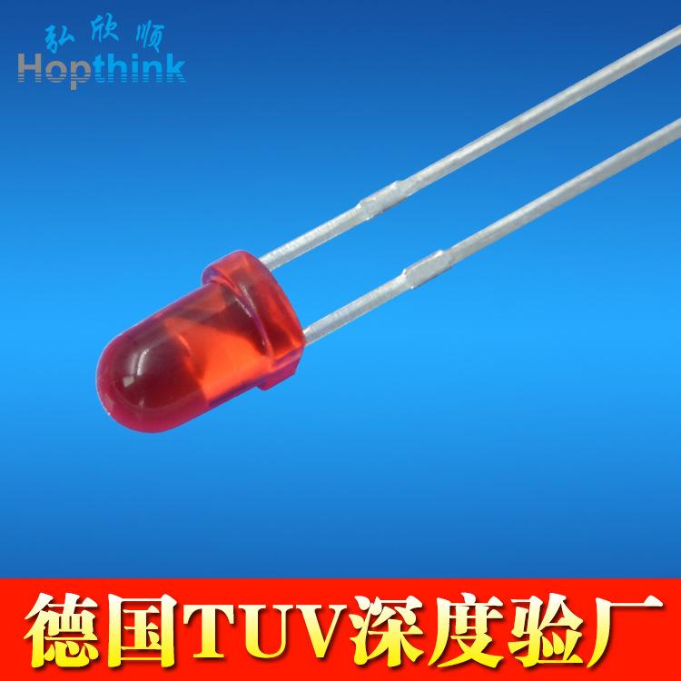 供应 3mm LED灯珠 0.06W f3圆头红发红灯珠 1.8-2.2V电源指示灯珠