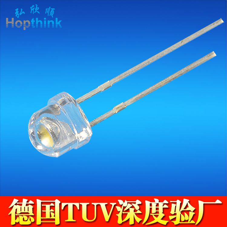 高亮 20mA直插式led灯珠 0.06W影视灯灯珠 120lm/w摄影灯灯珠