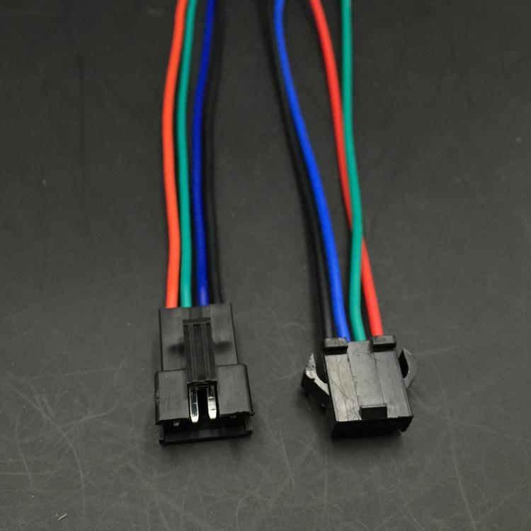 厂家批发SM公母插 4位镀锡铜PVC端子线  PP料SM公母插电源线