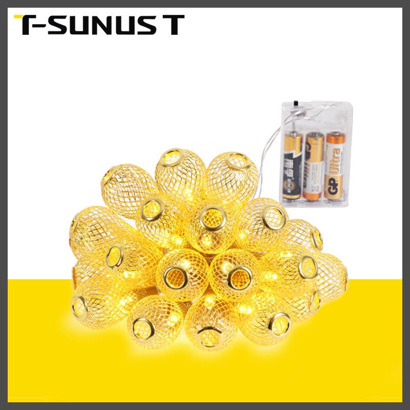 中山厂家直销LED节日氛围灯圆球铜丝灯串室内电池盒装饰照明灯串