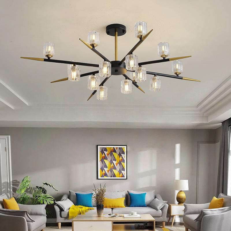 后现代轻奢水晶客厅吸顶灯创意个性设计师吊灯北欧卧室餐厅led灯