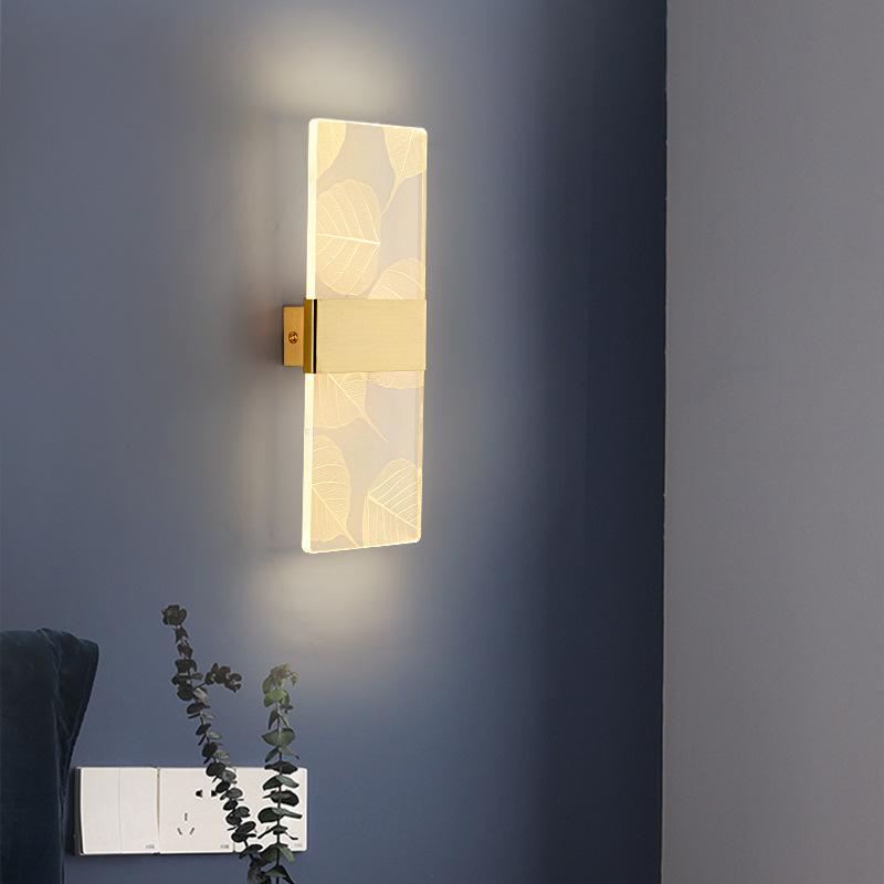 后现代轻奢全铜壁灯个性创意卧室床头过道欧式简约客厅背景墙壁灯