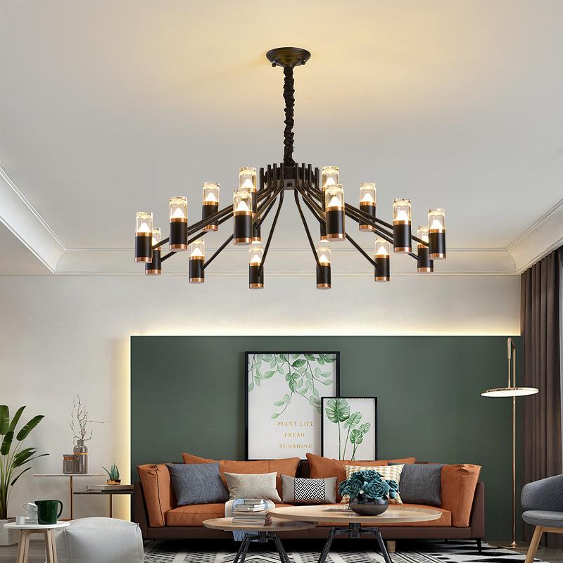 轻奢北欧客厅水晶吊灯现代简约创意个性餐厅灯大气家用卧室灯吊灯