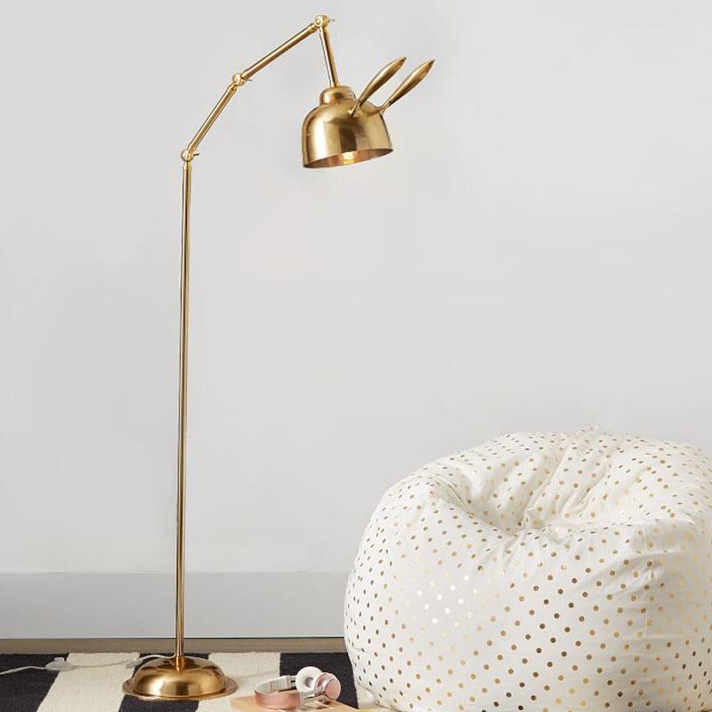 北欧后现代兔子客厅艺术落地灯创意酒店书房卧室床头儿童房落地灯