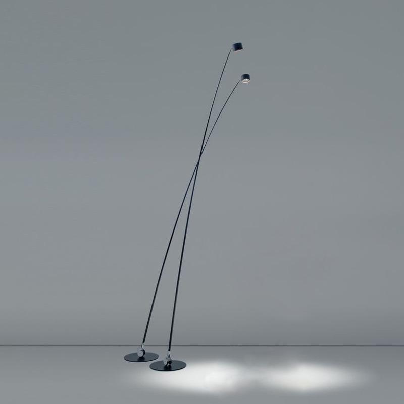 北欧极简设计师别墅酒店样板房轻奢客厅餐厅沙发长杆线条落地灯
