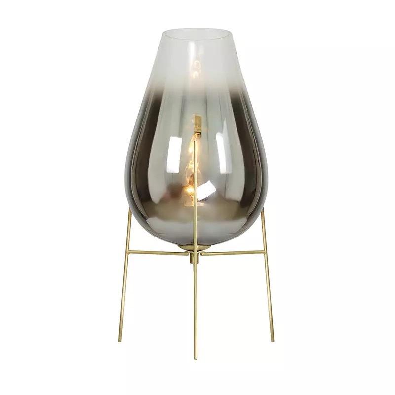 后现代创意轻奢客厅落地灯北欧简约卧室床头台灯艺术玻璃落地灯