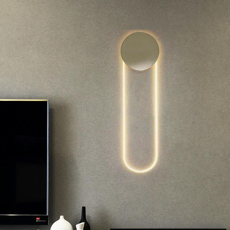 美式简约创意客厅壁灯后现代设计师艺术卧室床头酒店样板间壁灯