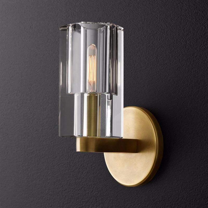 美式全铜壁灯客厅背景墙灯卧室床头灯简约轻奢个性过道灯壁灯