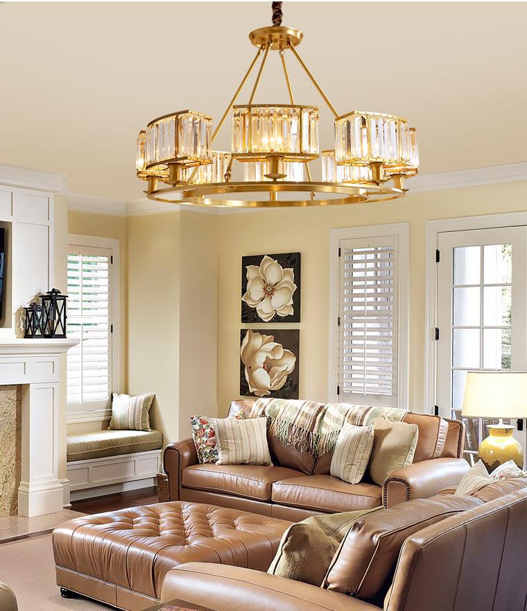 后现代吊灯轻奢客厅水晶灯全铜大气北欧现代简约餐厅卧室风格灯具