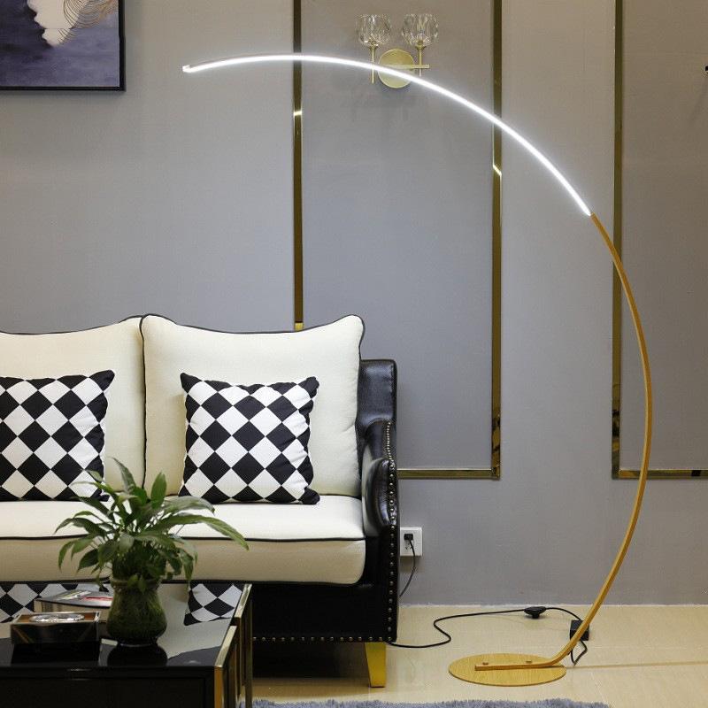 北欧极简线条钓鱼落地灯卧室床头客厅led灯现代简约时尚大气灯具