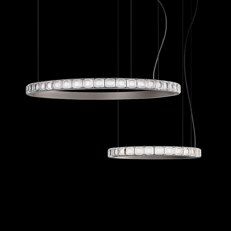 后现代吊灯轻奢客厅创意北欧简约餐厅卧室样板间创意圆圈水晶吊灯