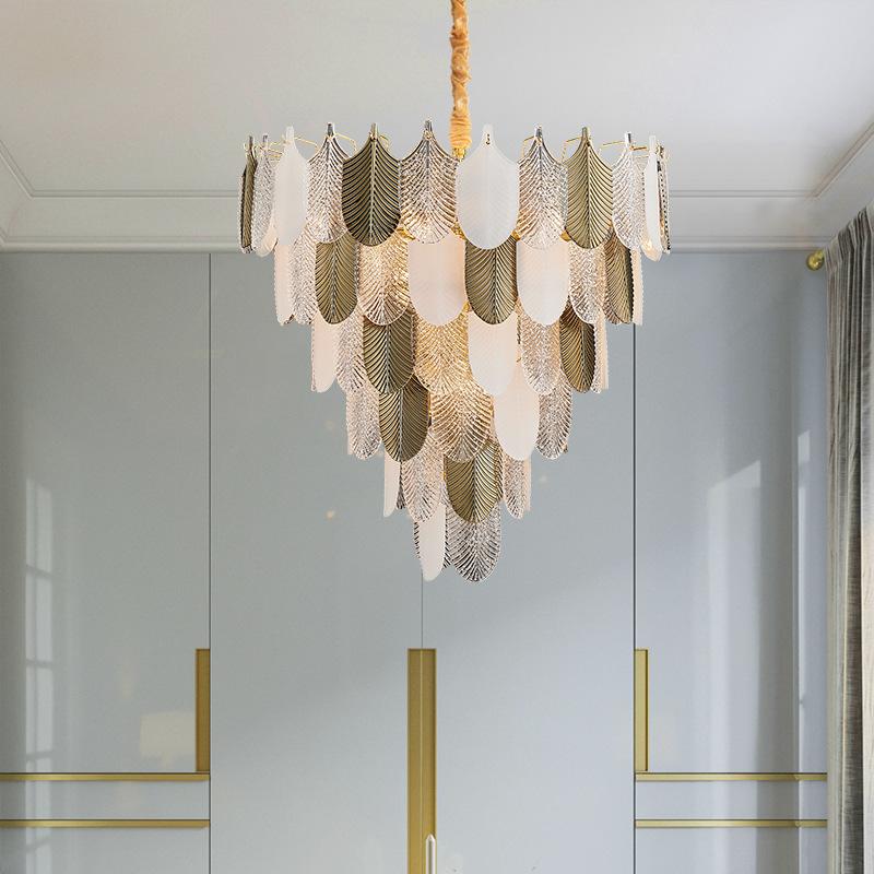 后现代玻璃吊灯餐厅简约创意灯艺术设计师样板间大气轻奢客厅灯具
